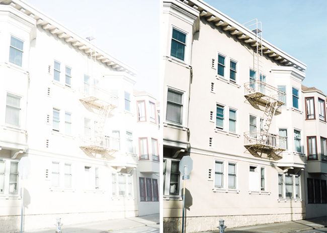 Karthika Gupta - Overexposed image of downtown SanFrancisco in RAW