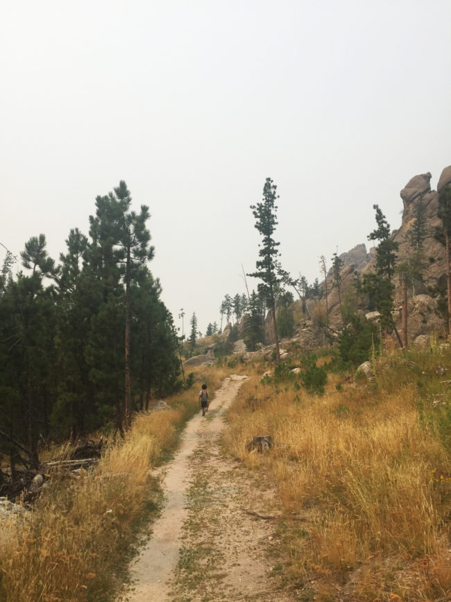 Hiking in Black Hills State park with kids - Karthika Gupta